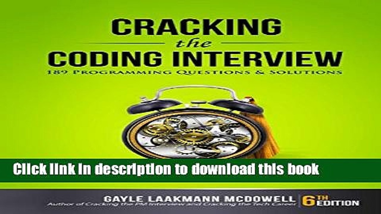 Cracking The Coding Interview Pdf Download