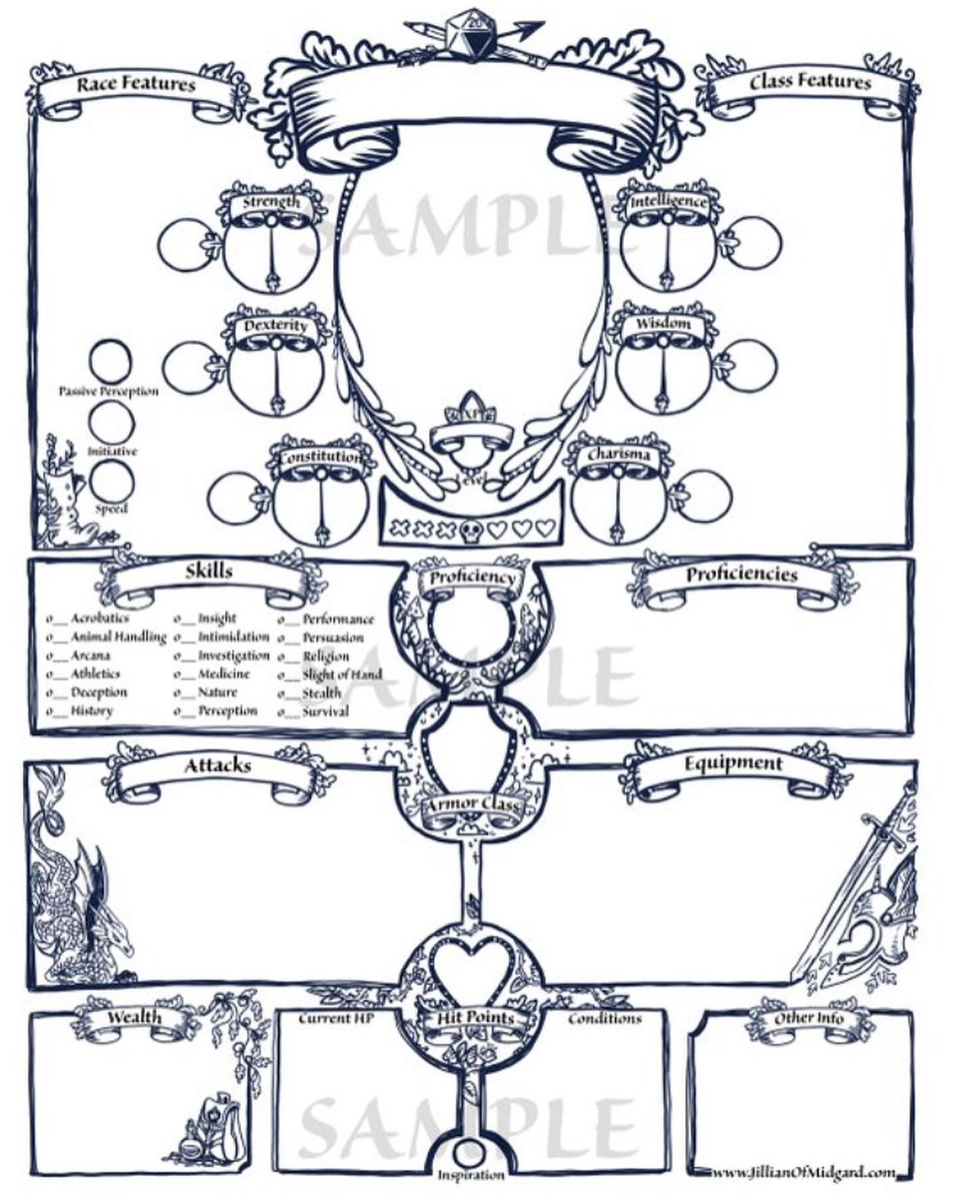 Custom Dnd Character Sheet Pdf