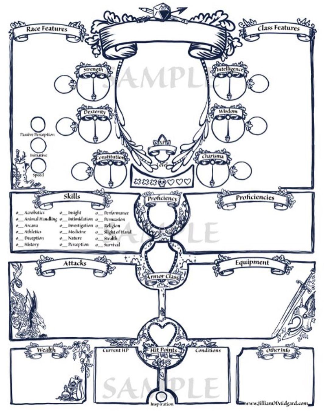 Custom Dnd Character Sheet Pdf