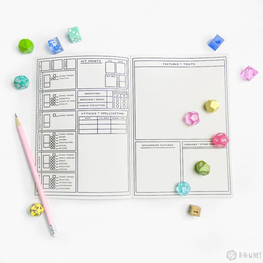 Dnd Character Sheet Pdf Fillable