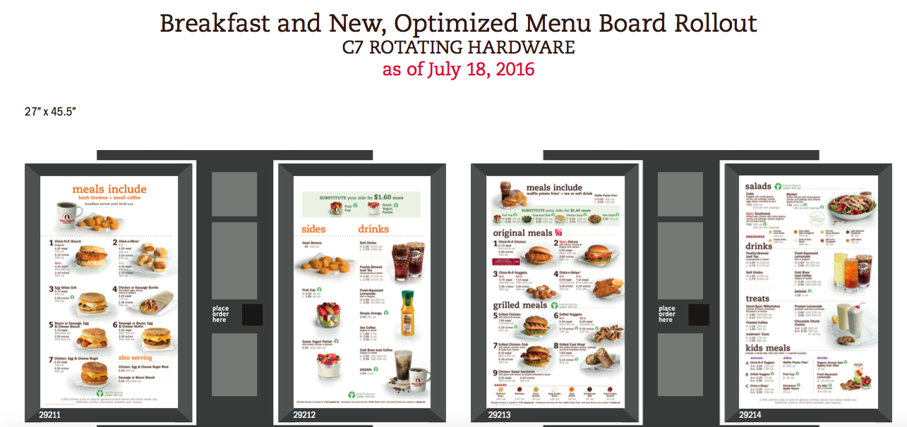 Drive Thru Chick Fil A Menu Pdf