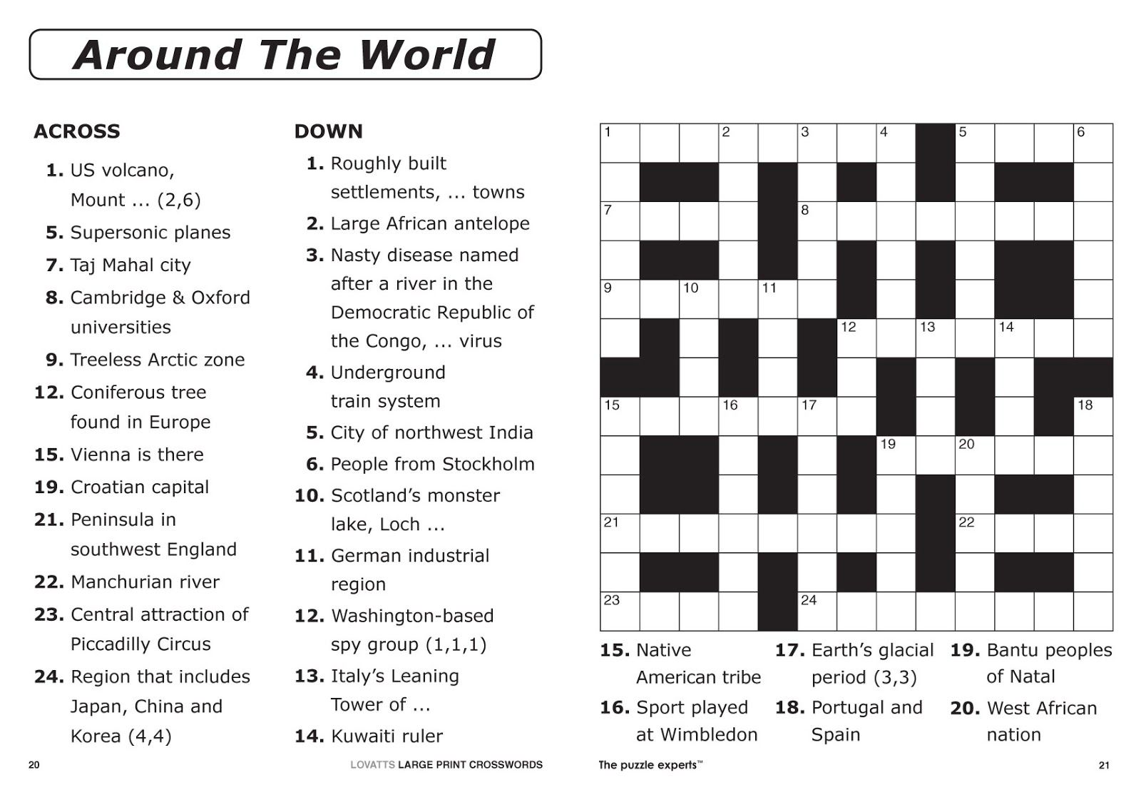 Easy Printable Crossword Puzzles Pdf