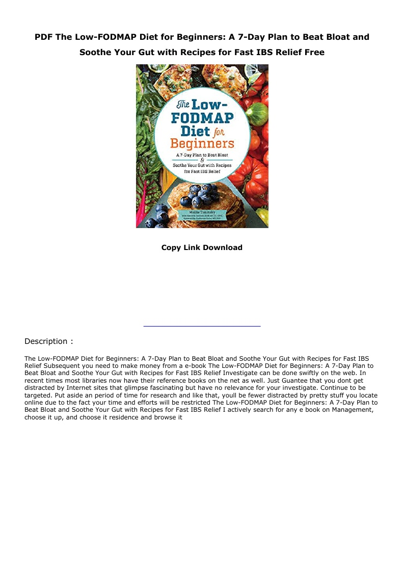 Fodmap Diet Plan Pdf