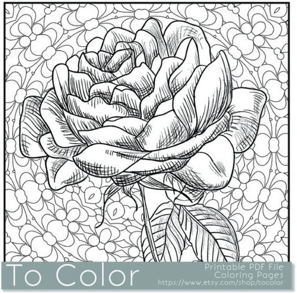 Free Online Coloring Pages For Adults Pdf