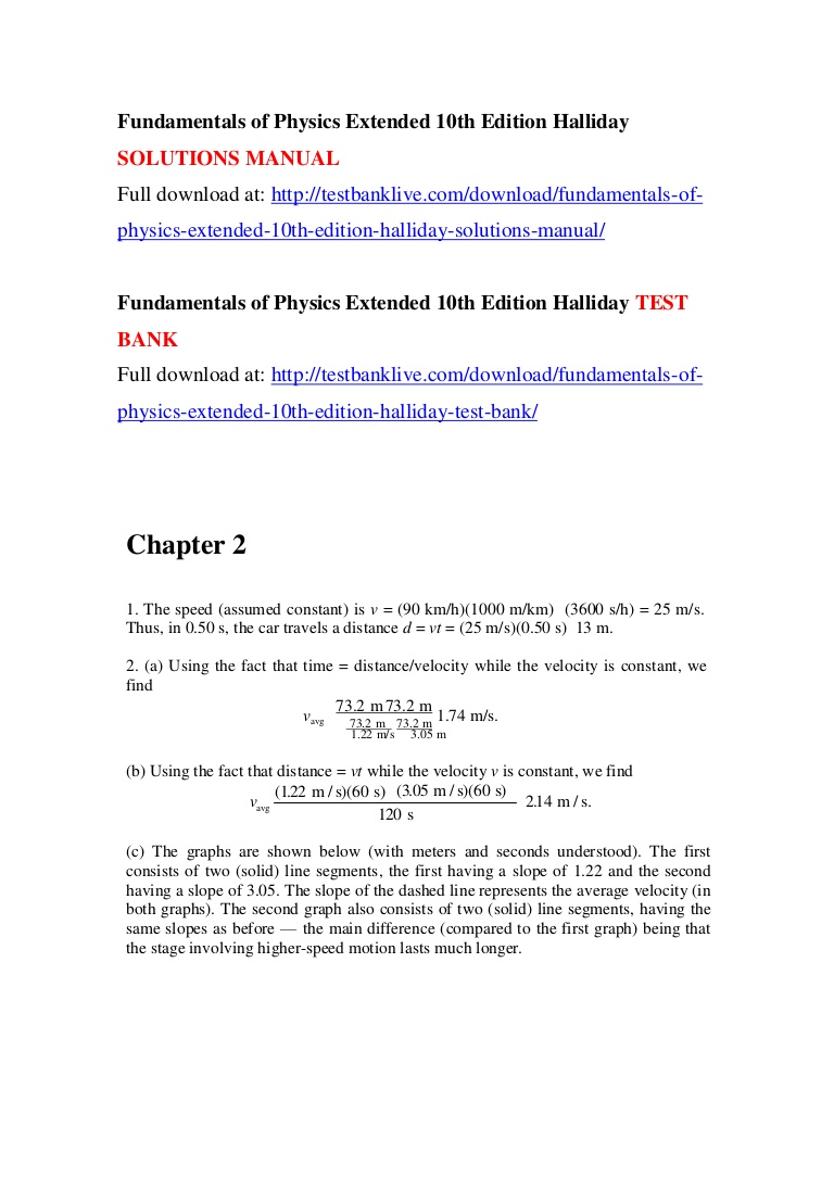 Fundamentals Of Physics 10th Edition Pdf Solution Manual