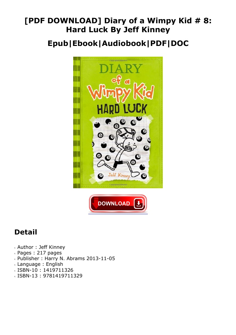 Hard Luck Diary Of A Wimpy Kid Pdf