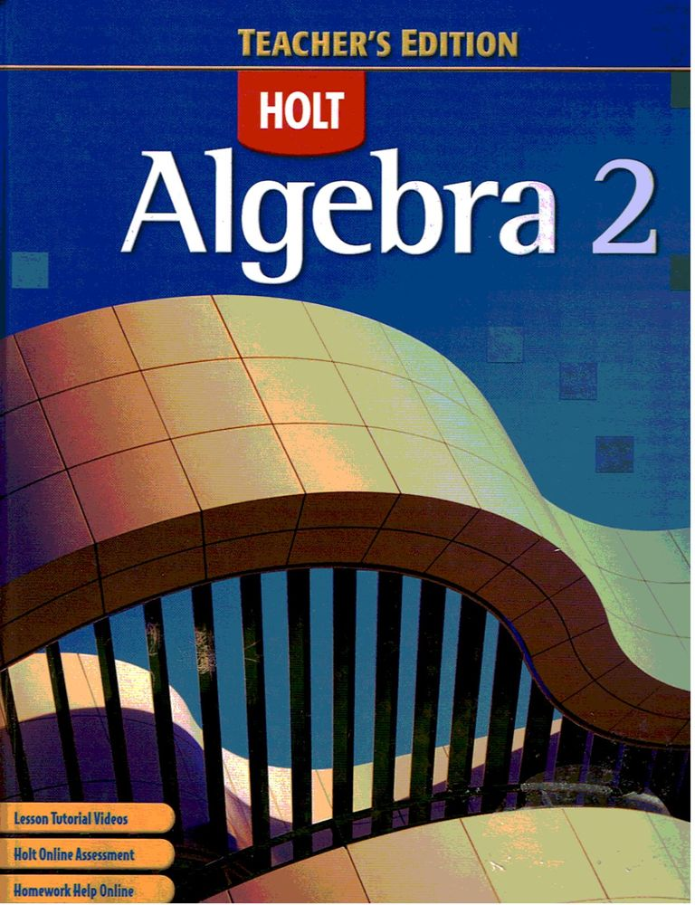 Holt Mcdougal Algebra 2 Textbook Pdf