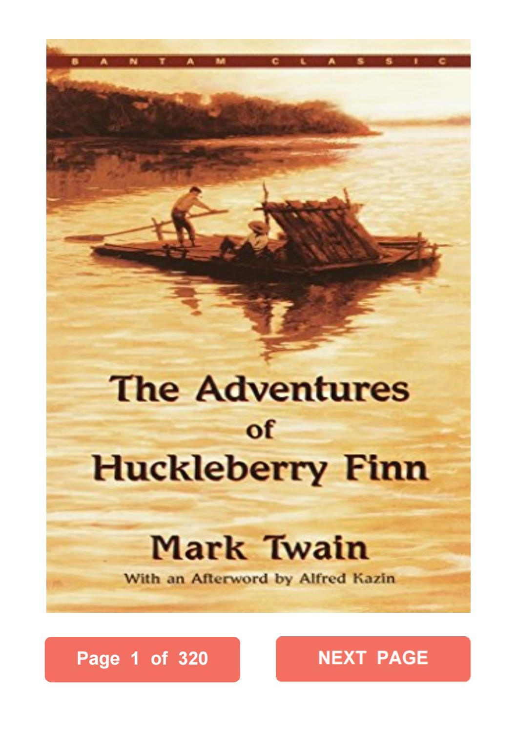 Huckleberry Finn Pdf Short Version