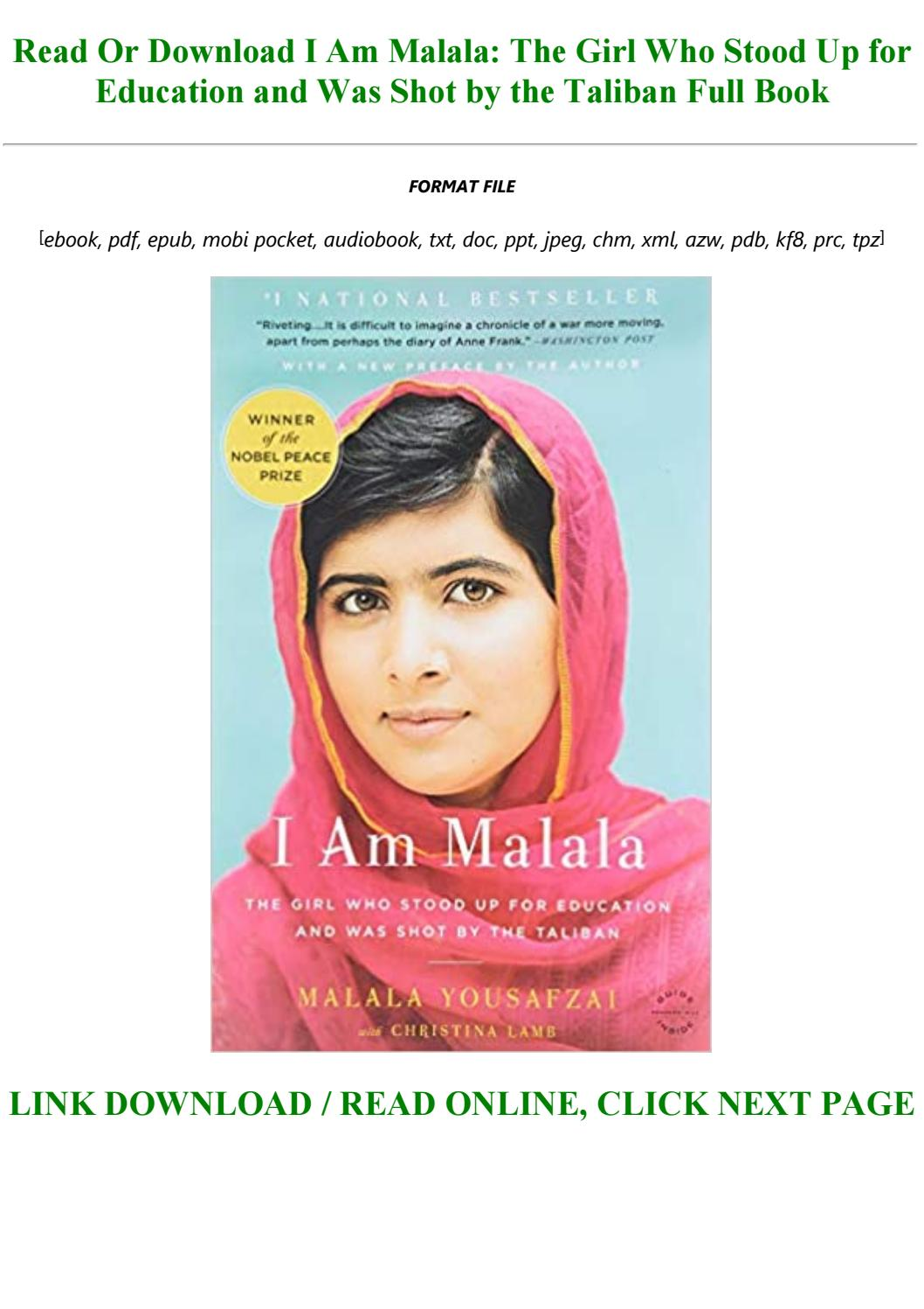 I Am Malala Pdf Download