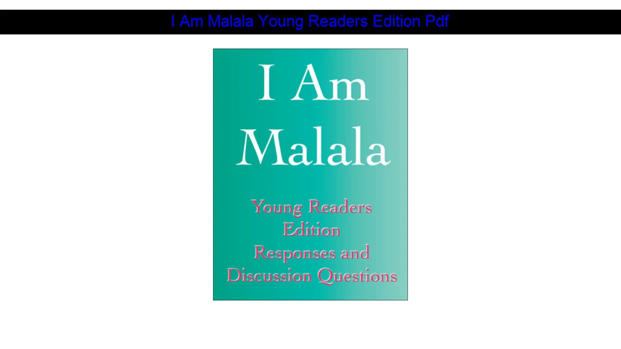 I Am Malala Pdf Young Readers Edition