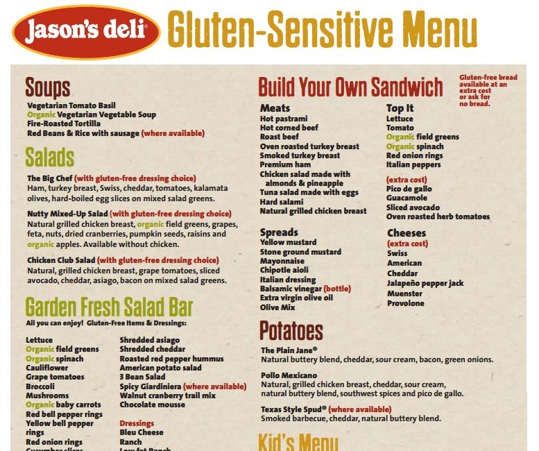 Jason's Deli Menu Pdf