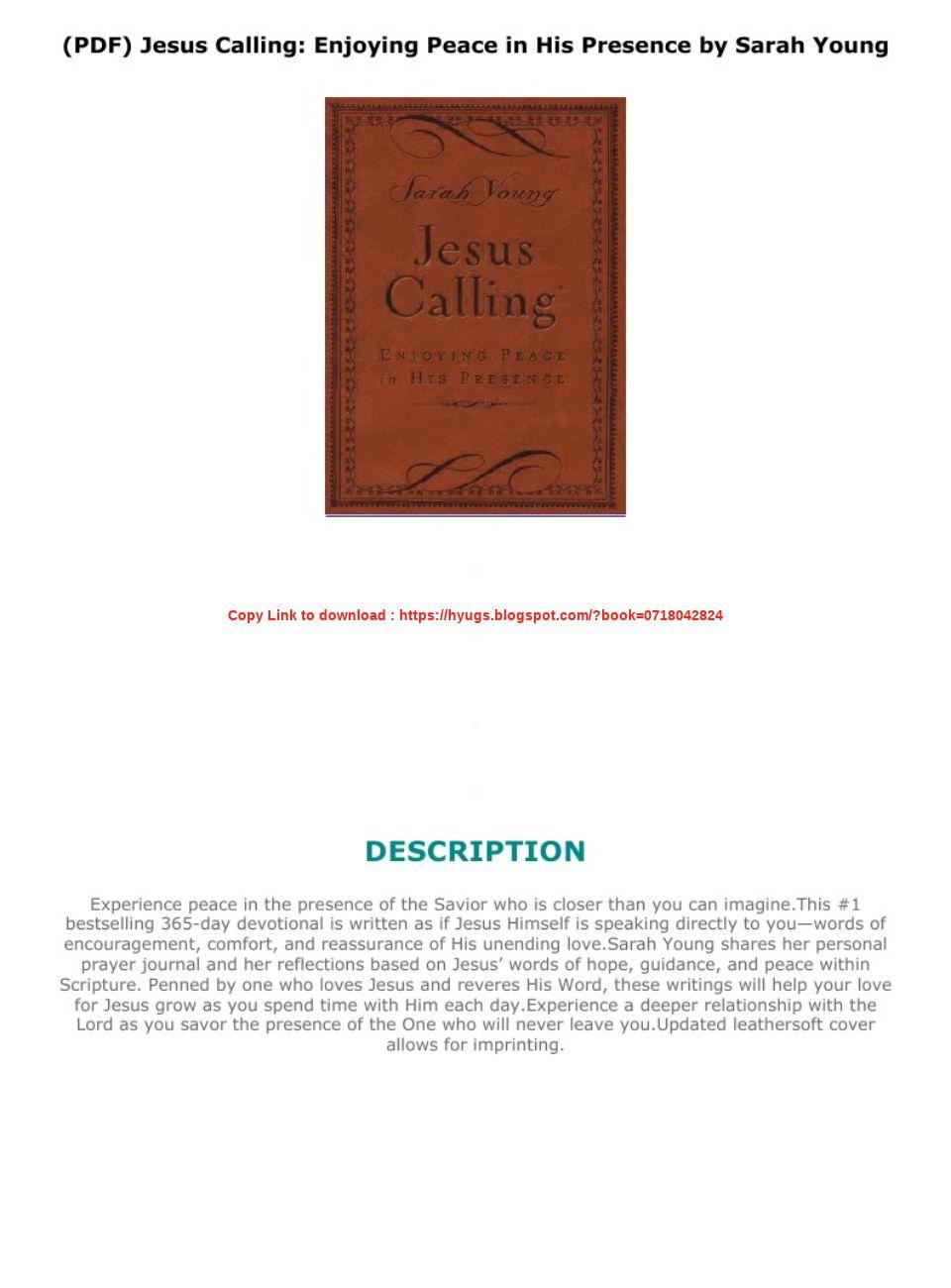 Jesus Calling Pdf Sarah Young
