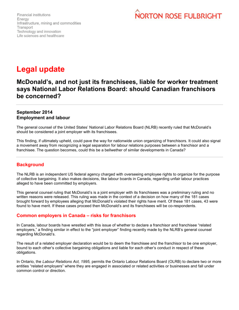 Mcdonalds Application Pdf Canada
