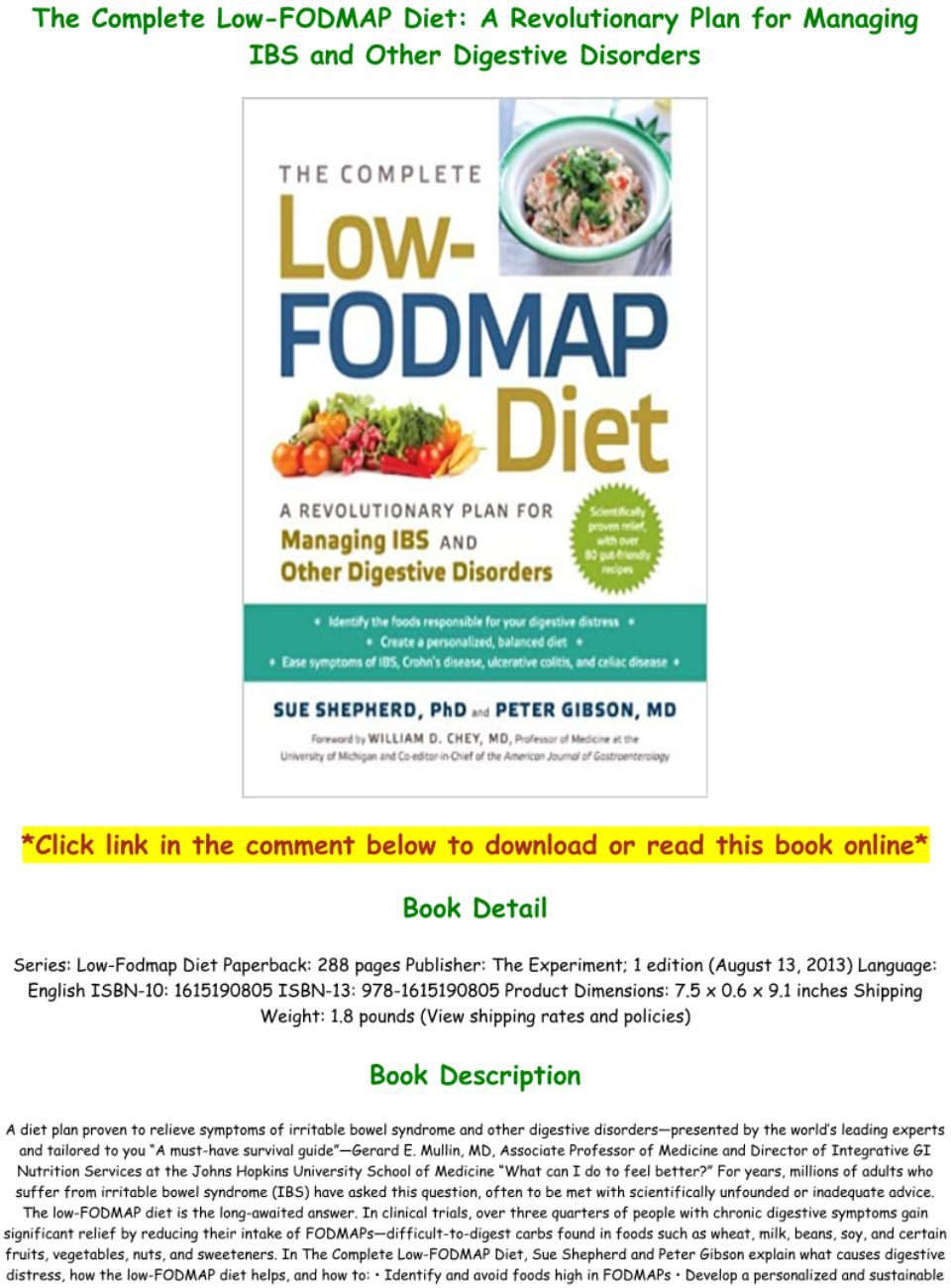 Pdf Download Fodmap Diet Pdf