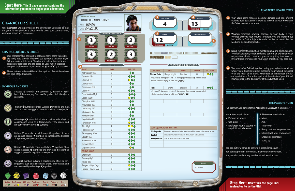 Pdf Edge Of The Empire Character Sheet