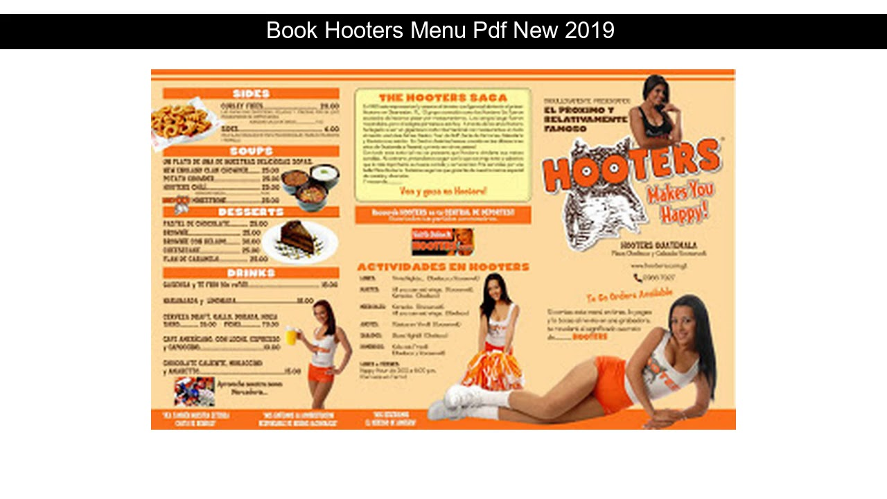 Pdf Hooters Drink Menu