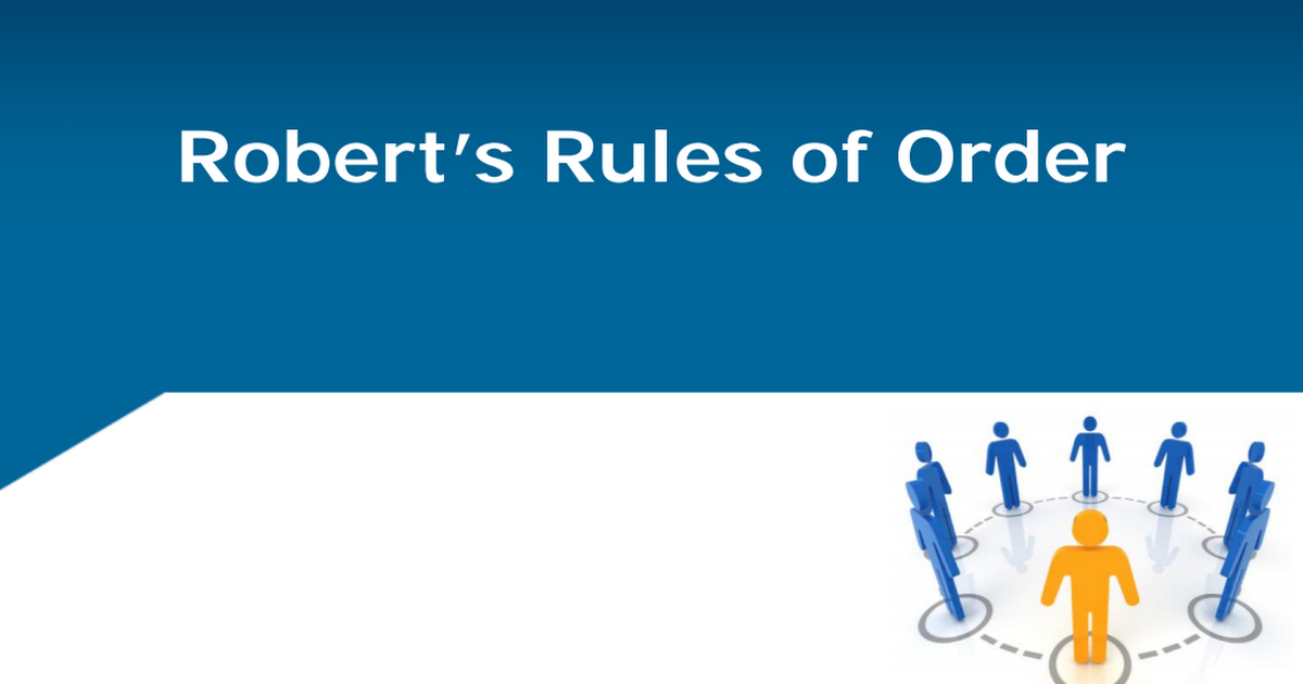 Pdf Roberts Rules Of Order