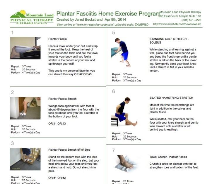 Plantar Fasciitis Exercises Pdf Spanish