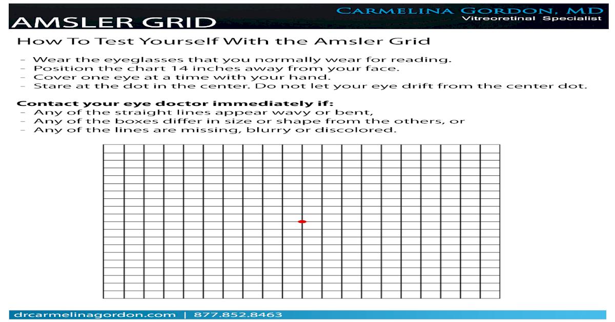 Printable Amsler Grid Pdf