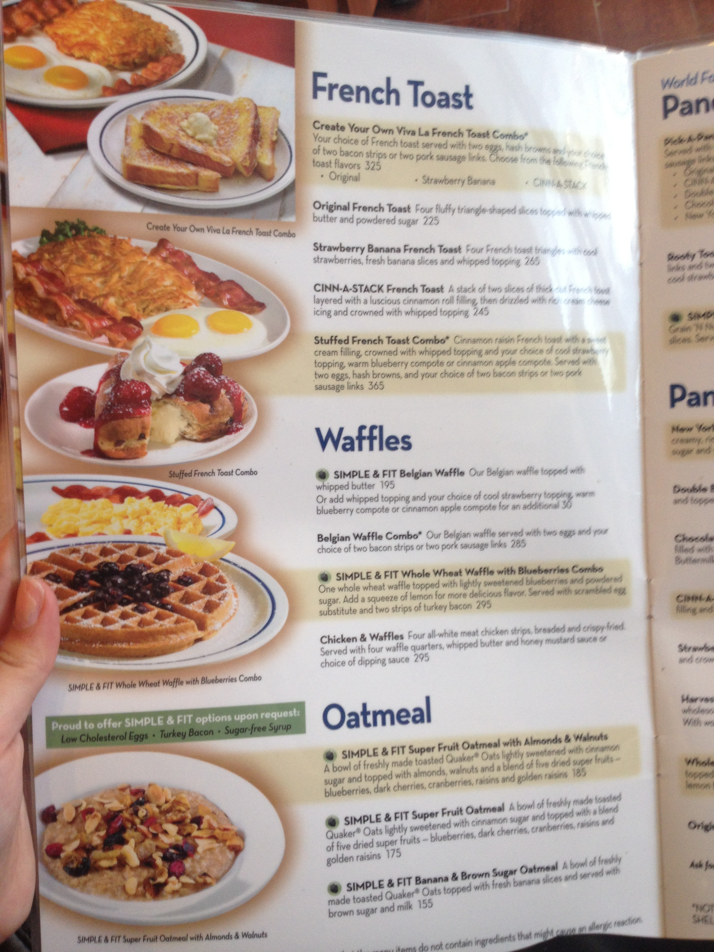 Printable Ihop Menu Pdf