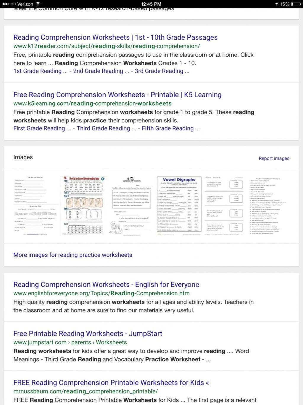 Second Grade 2nd Grade Reading Comprehension Worksheets Pdf