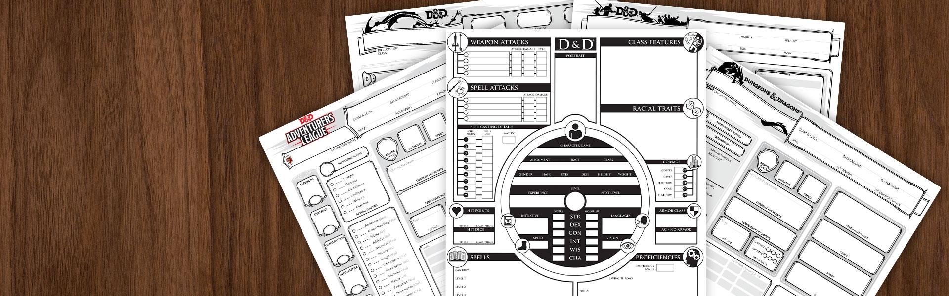 Template Printable Dnd Character Sheet Pdf