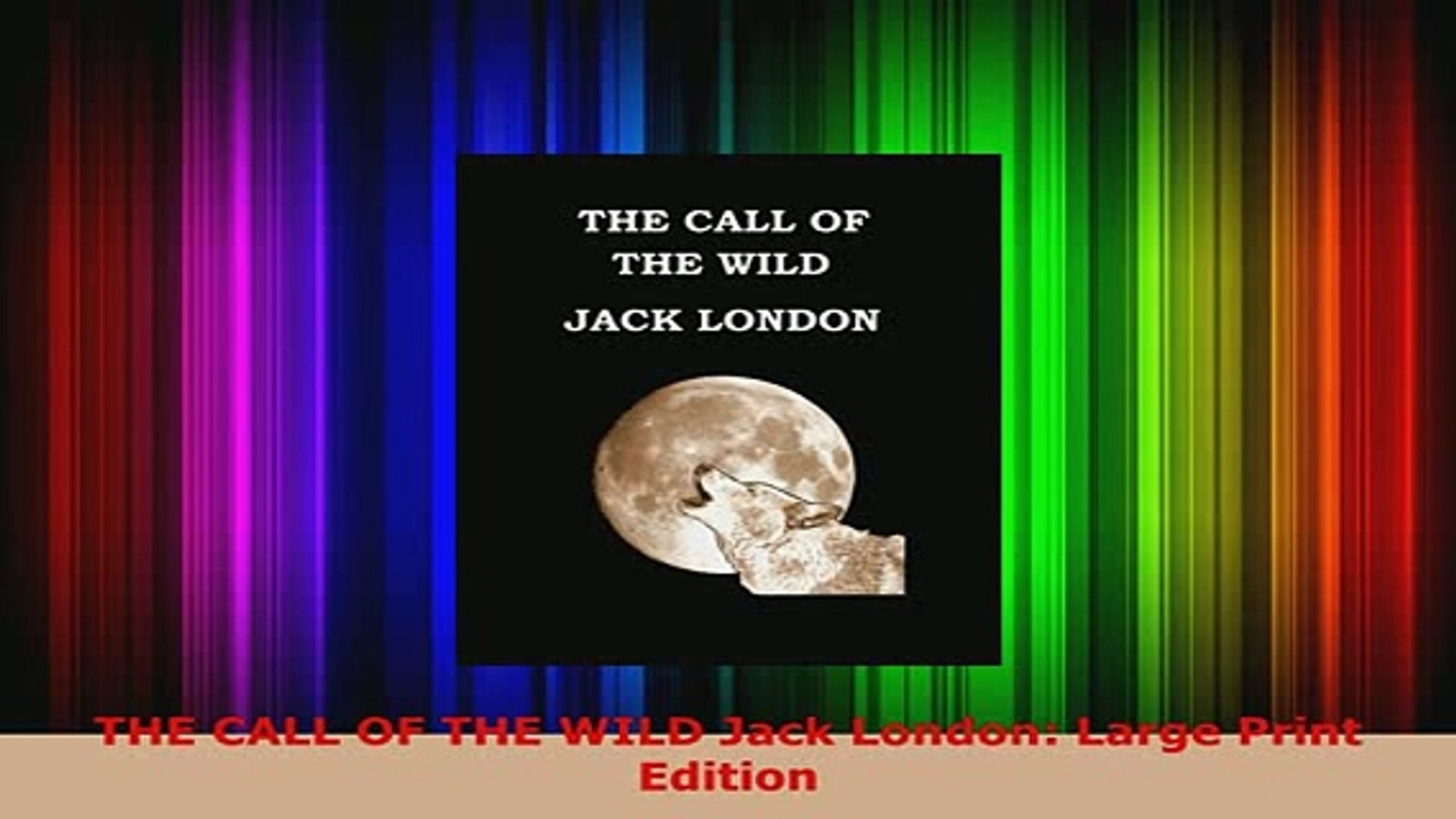 The Call Of The Wild Pdf Jack London