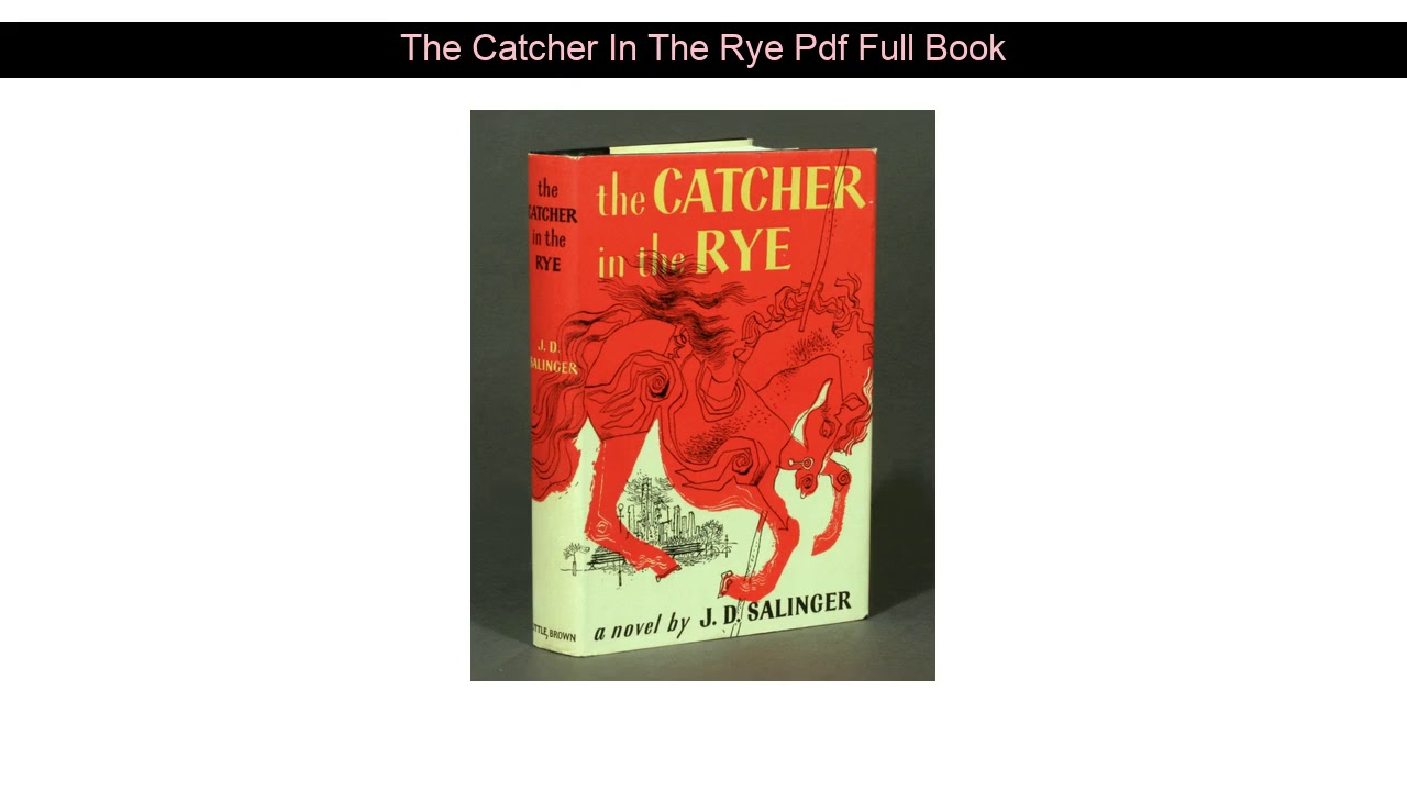 The Catcher In The Rye Pdf Full Book