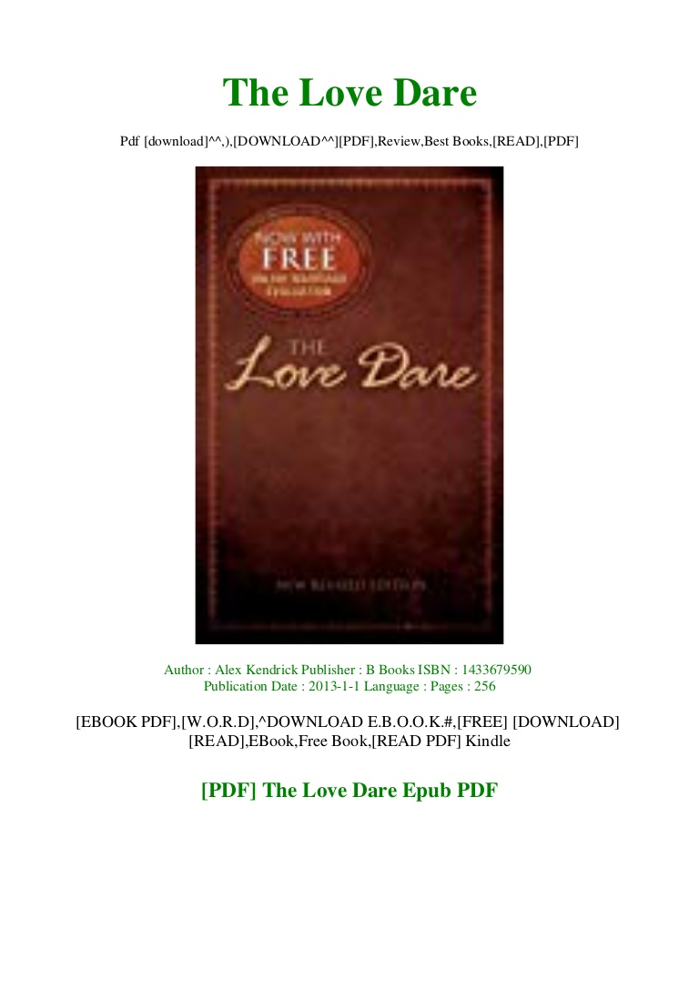 The Love Dare Pdf
