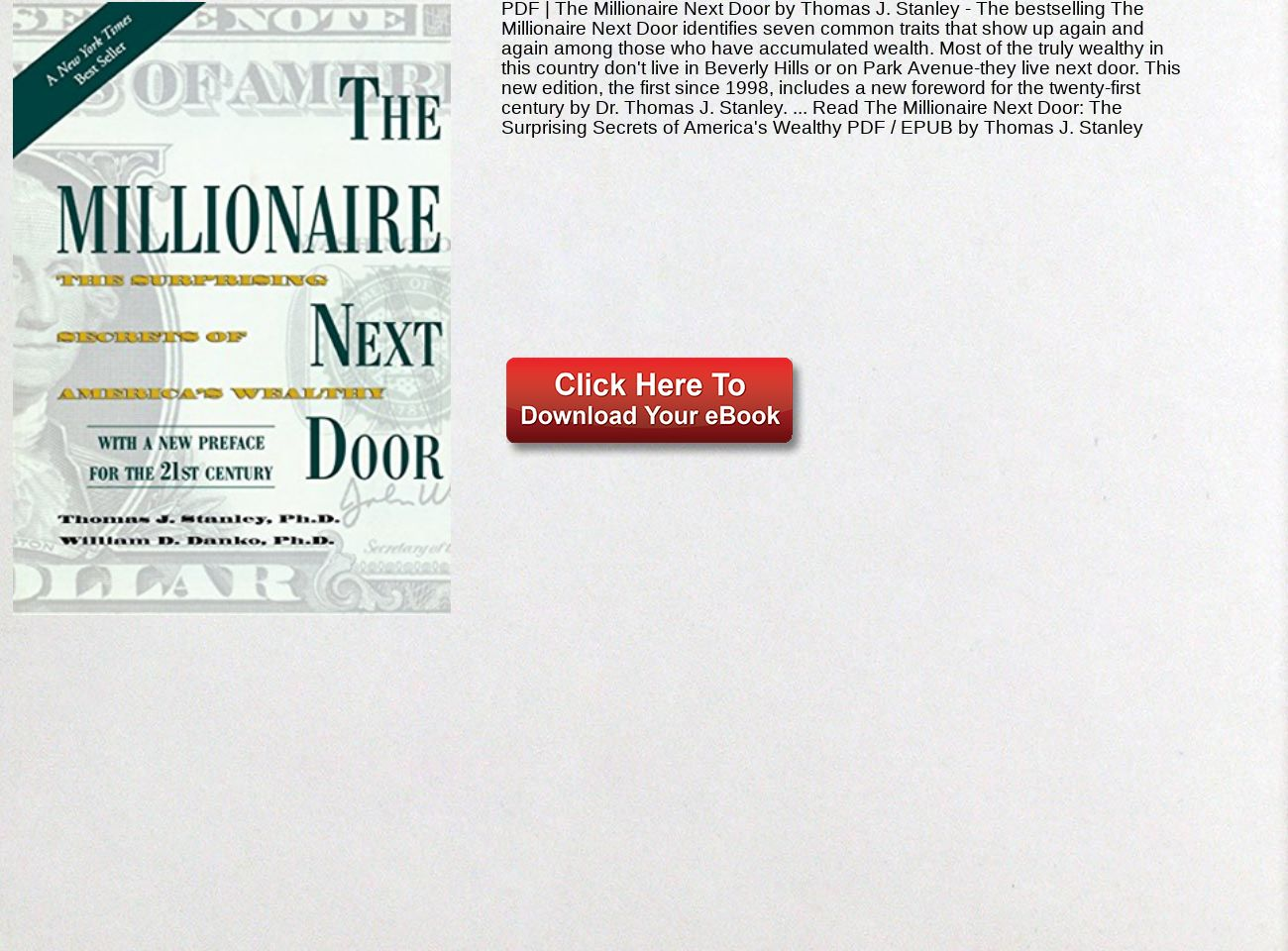 The Millionaire Next Door Pdf Thomas Stanley