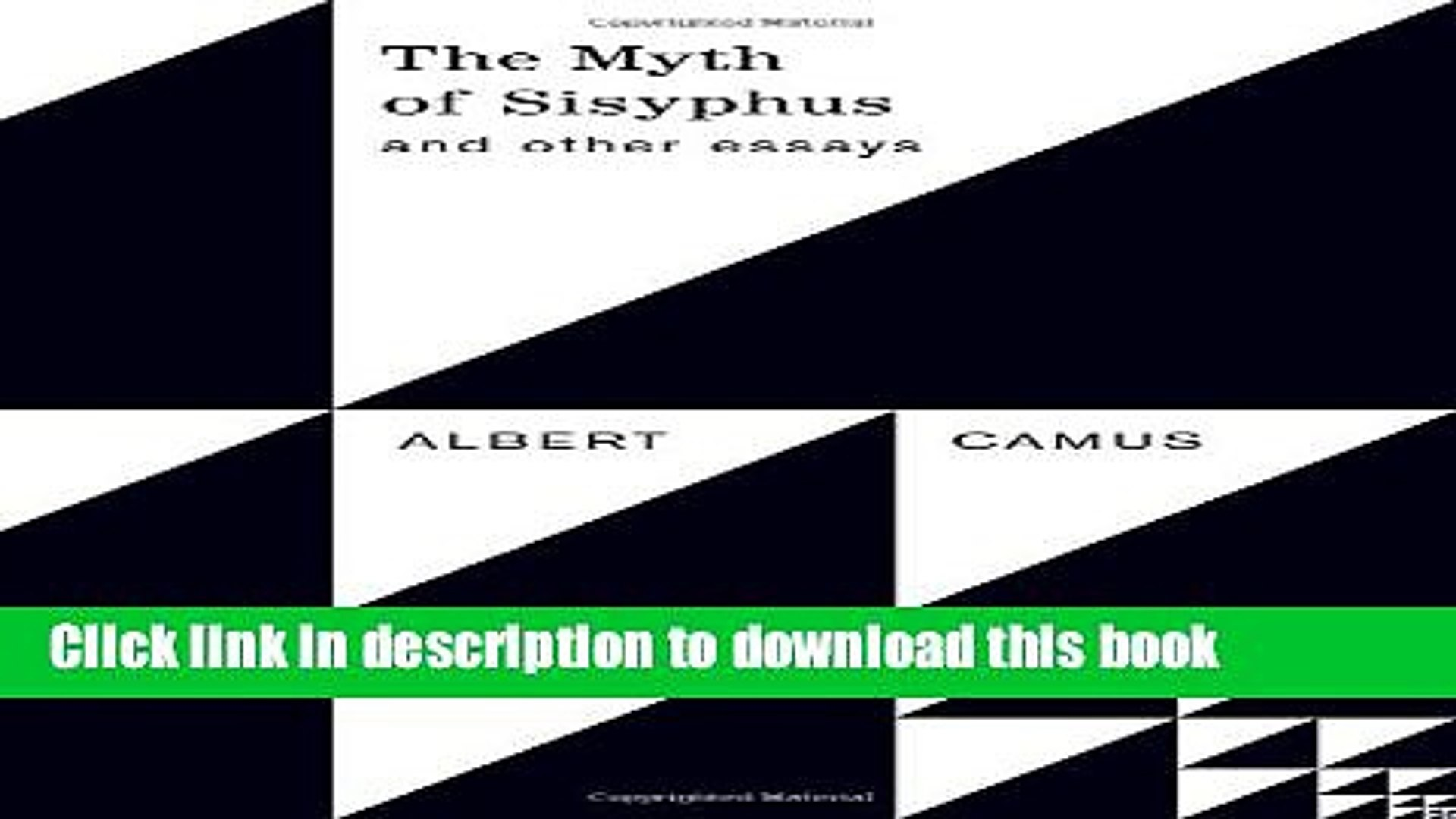 The Myth Of Sisyphus Pdf Book