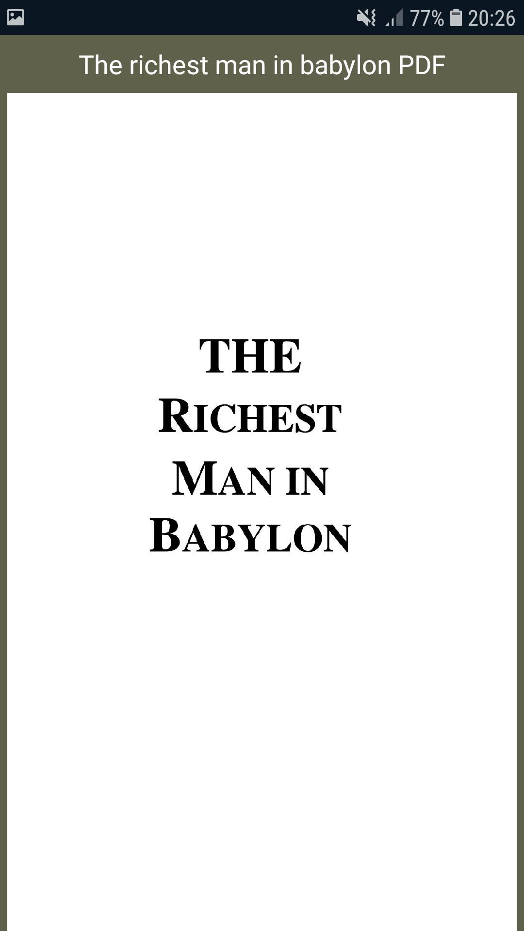 The Richest Man In Babylon Pdf Indonesia