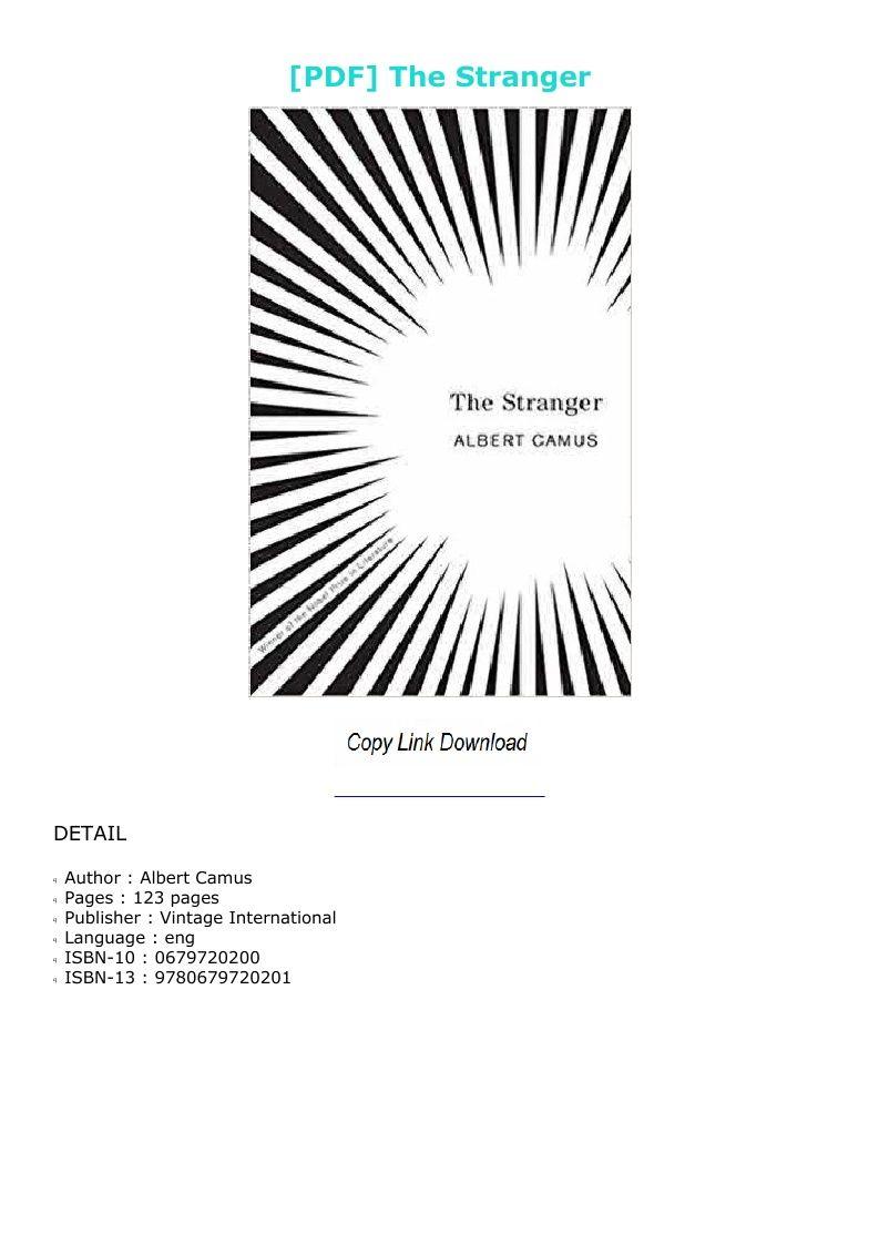 The Stranger Albert Camus Pdf French