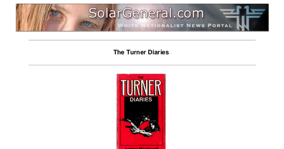 The Turner Diaries Pdf