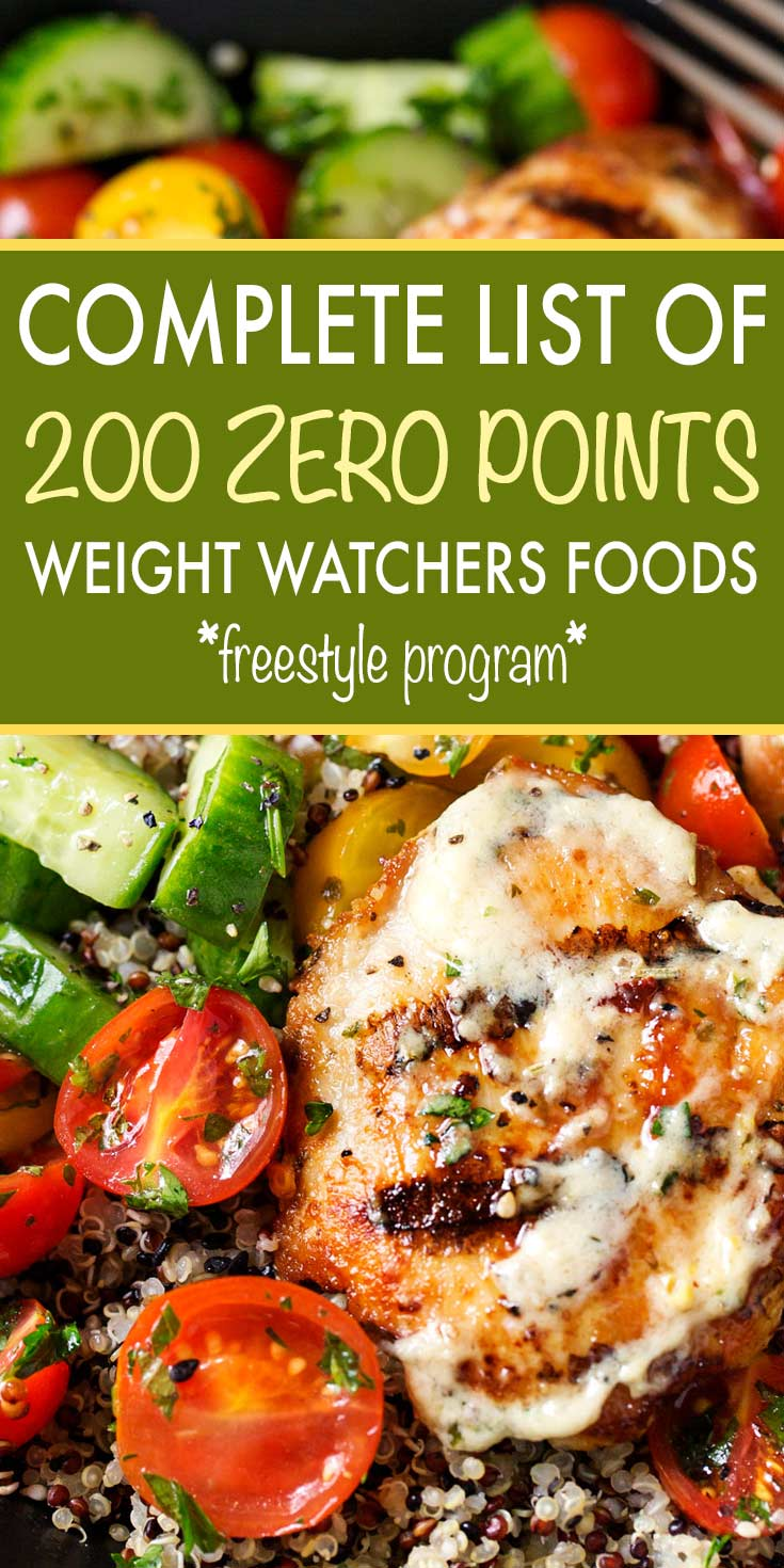 Weight Watchers Zero Point Foods Pdf 2019