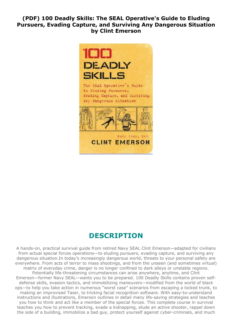 100 Deadly Skills Pdf