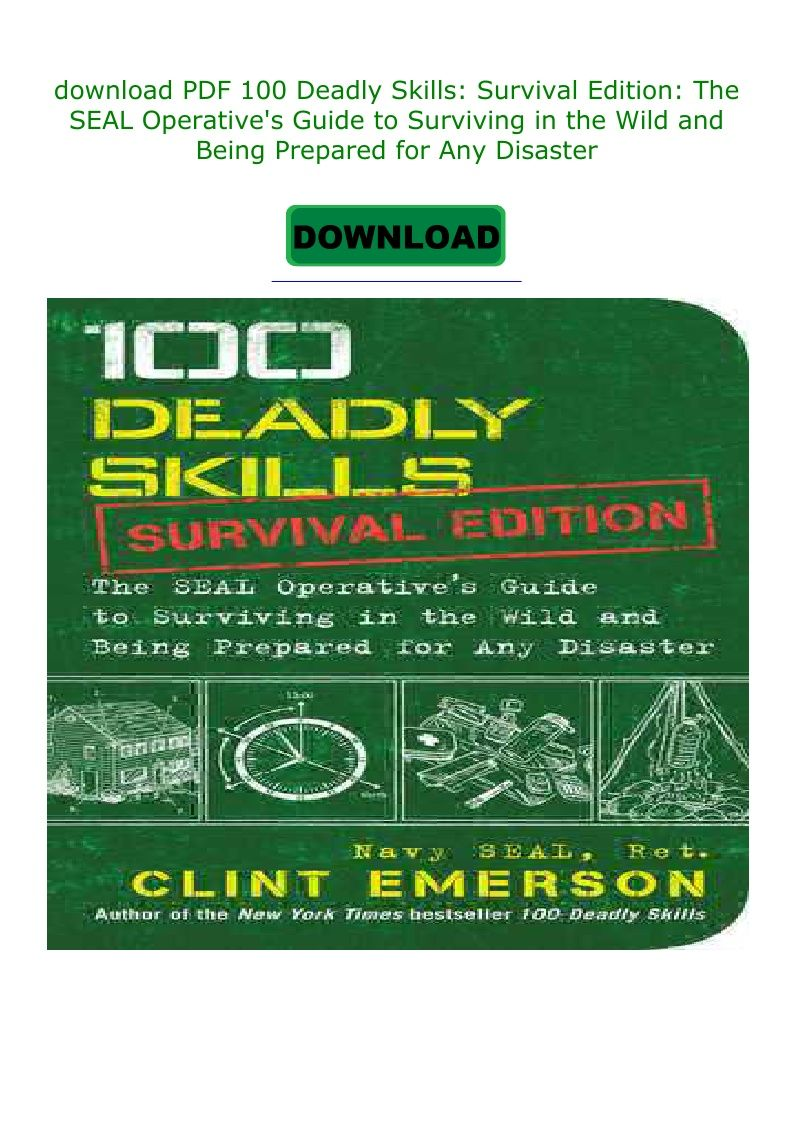 100 Deadly Skills Survival Edition Pdf