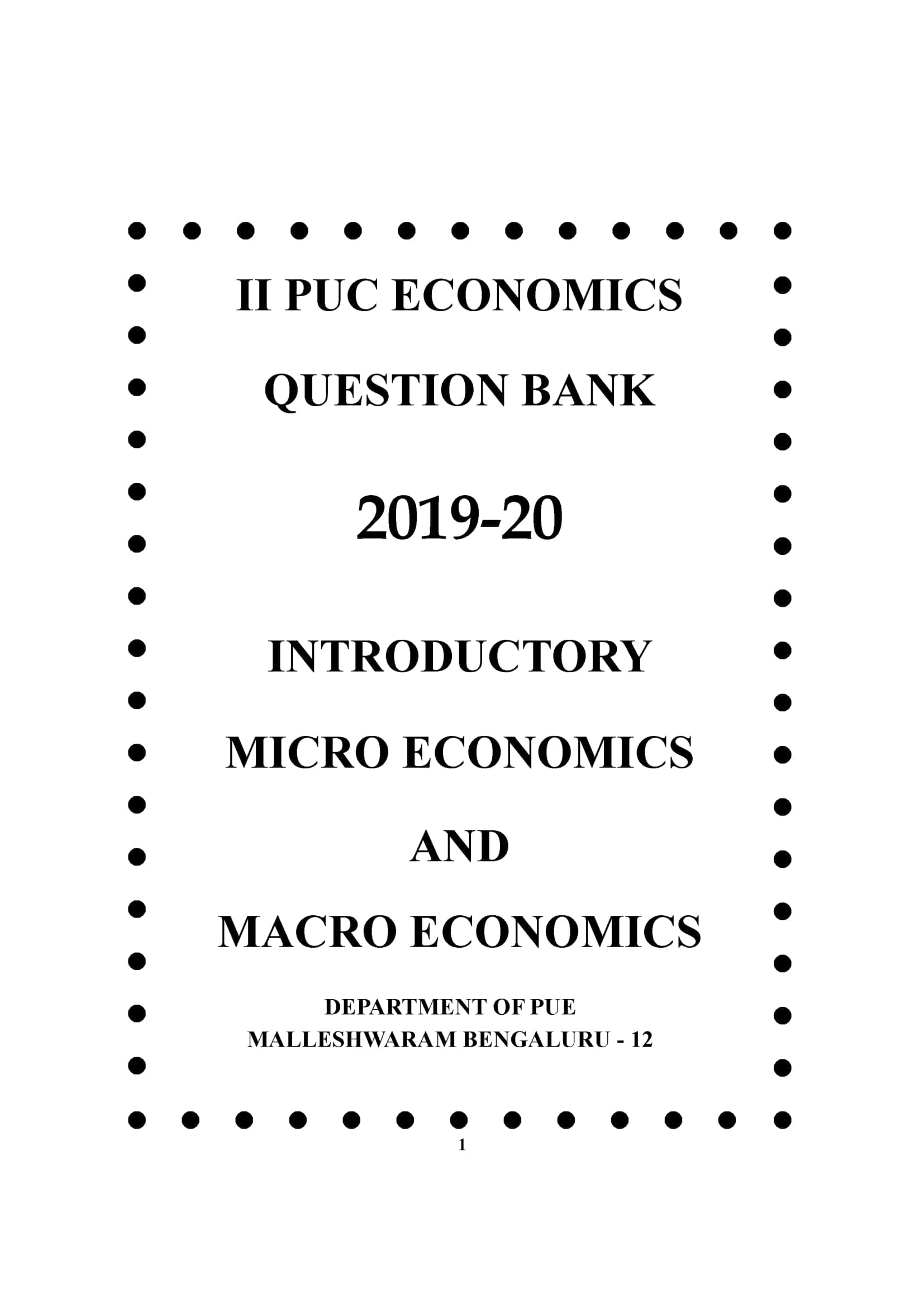 2nd Puc Economics Textbook Pdf In English