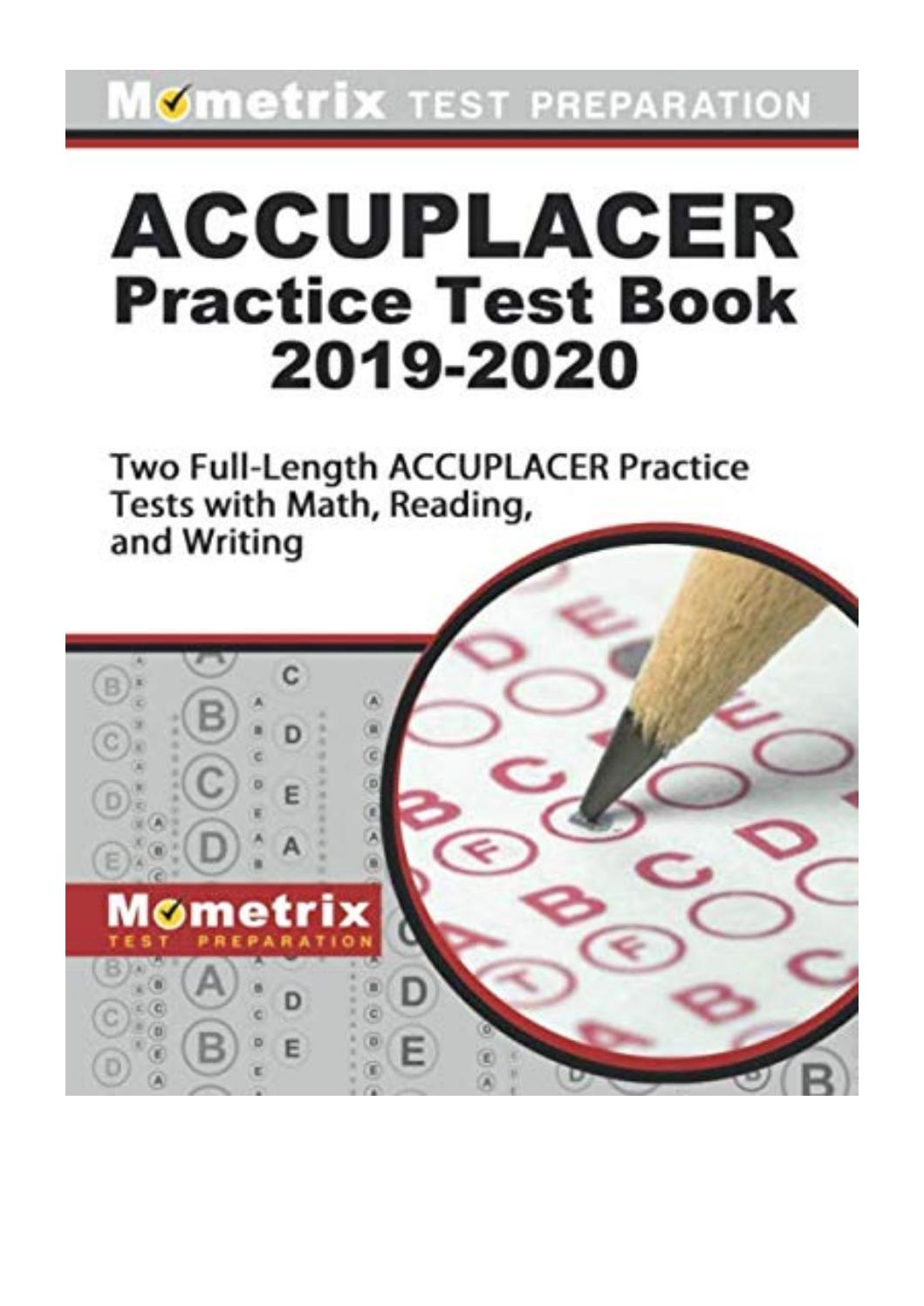 Accuplacer Practice Test Pdf 2020