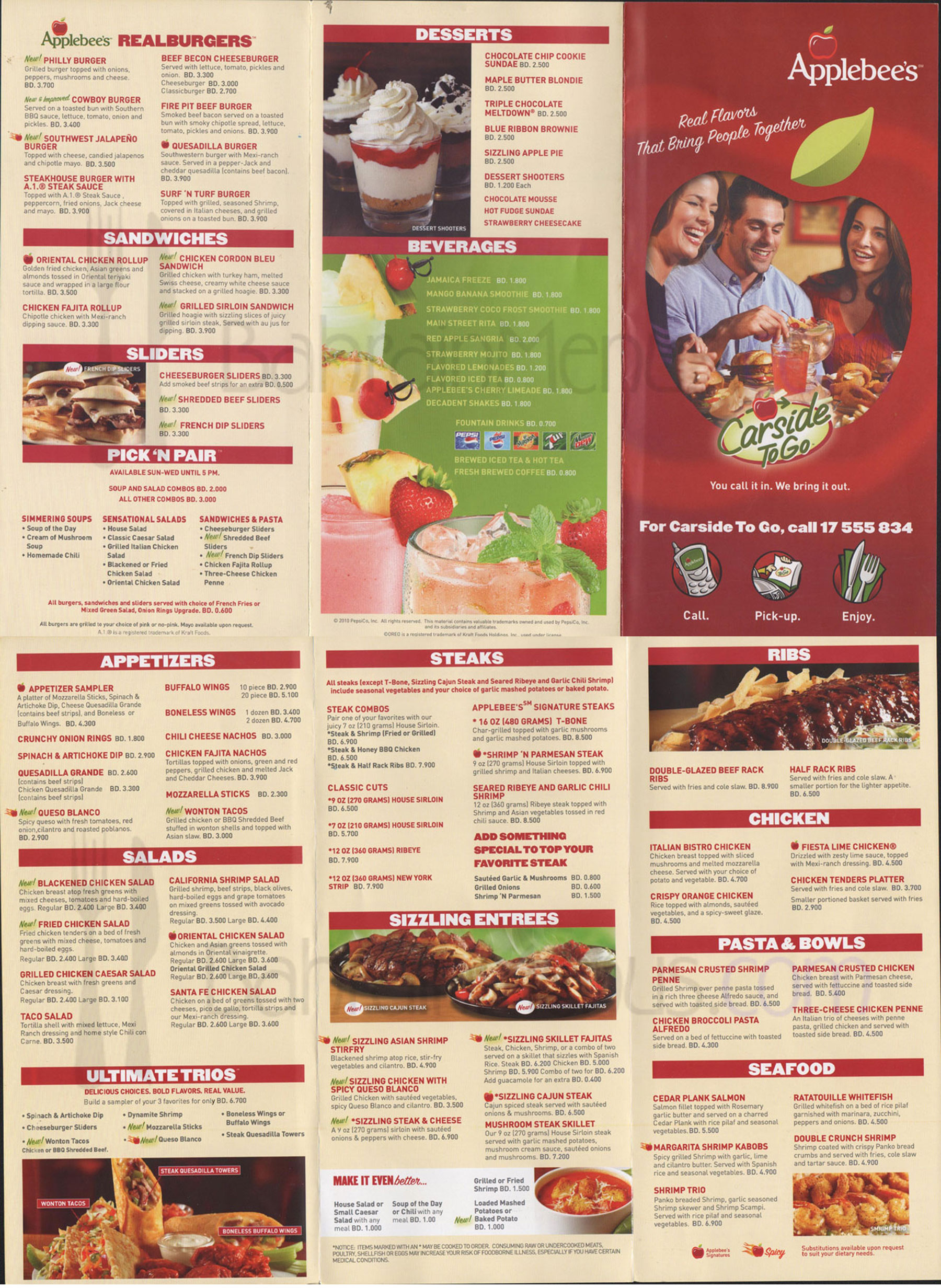 Applebees Menu Pdf
