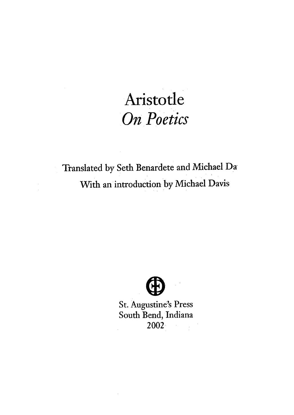 Aristotle Poetics Pdf