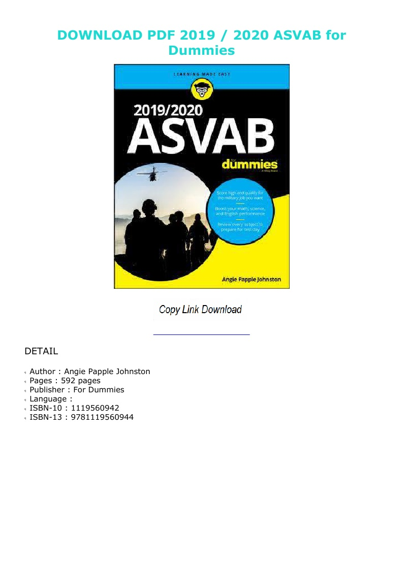 Asvab For Dummies 2020 Pdf