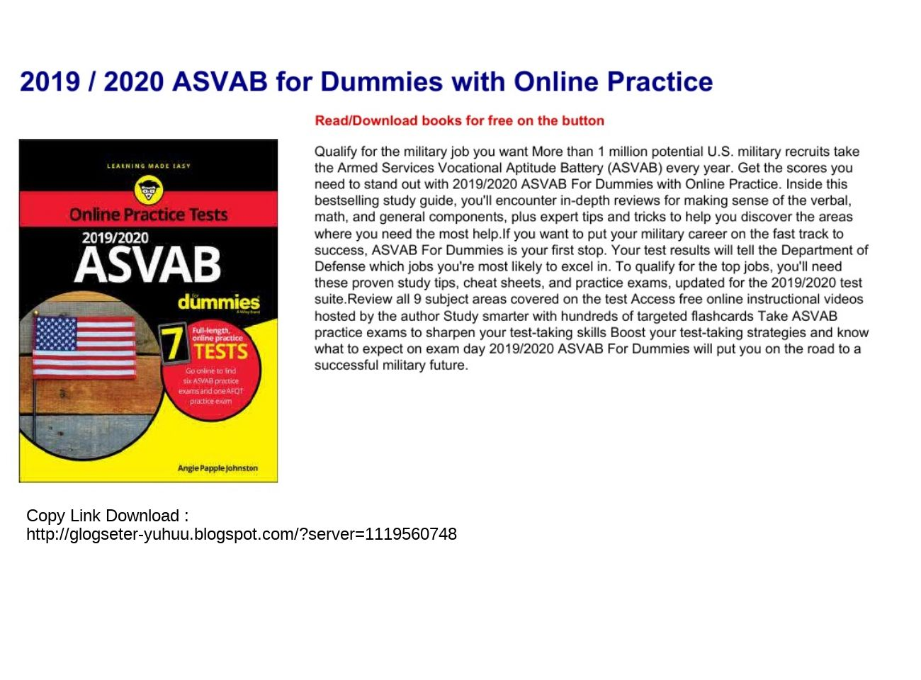 Asvab For Dummies Pdf