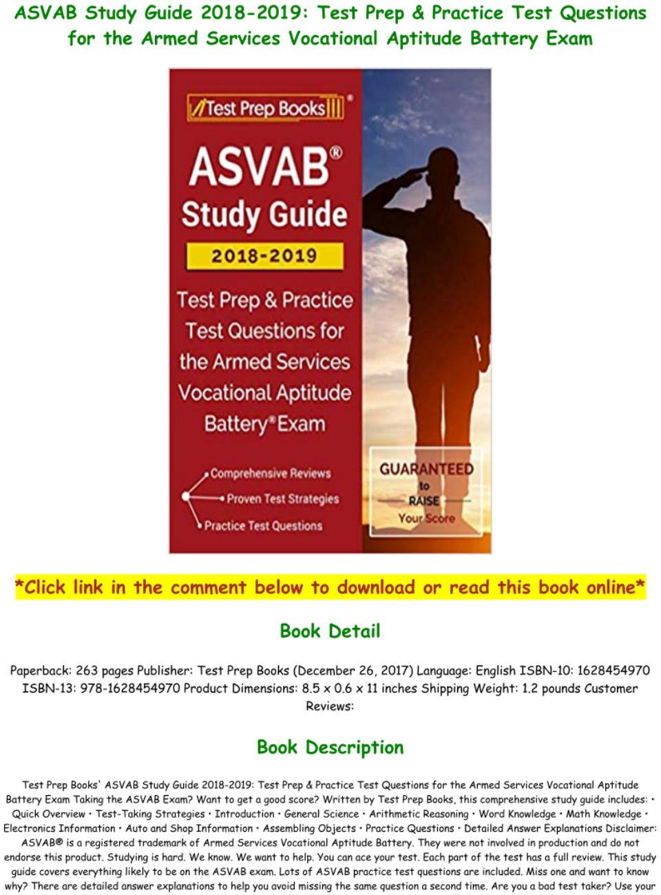 Asvab Study Guide Pdf 2019