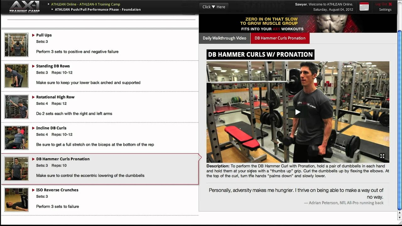 Athlean X Workout Plan Pdf