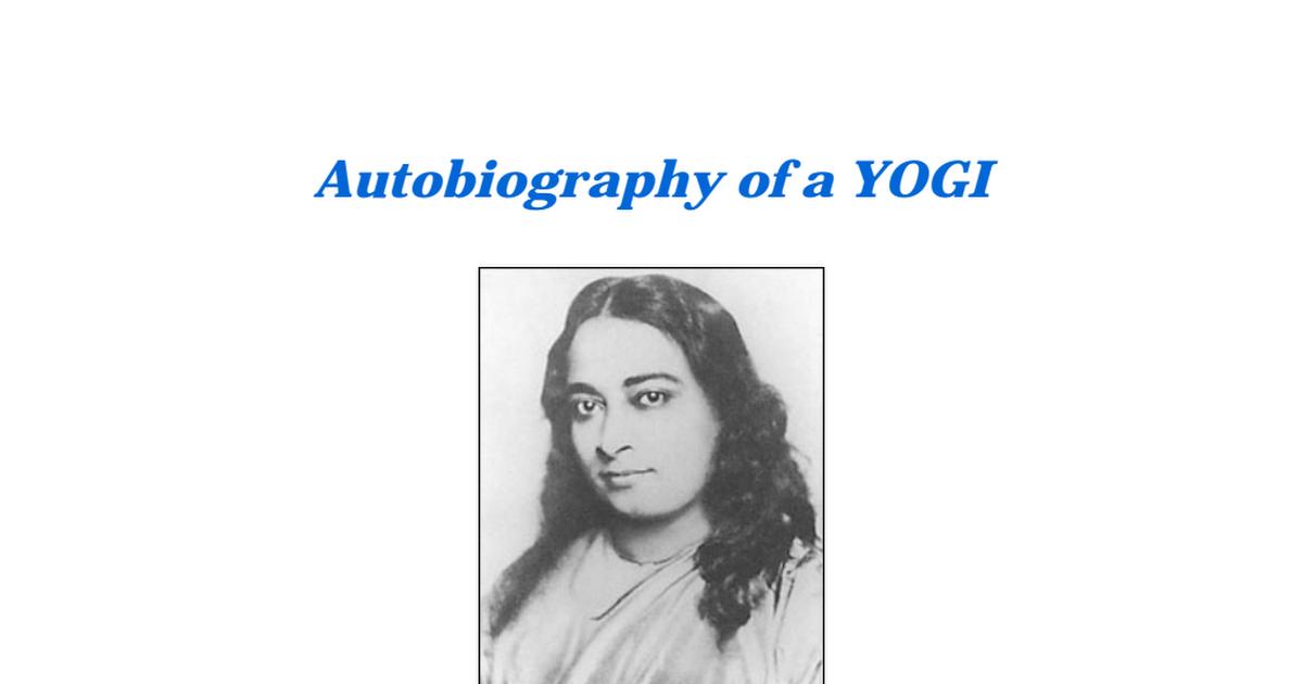 Autobiography Of A Yogi Pdf Drive