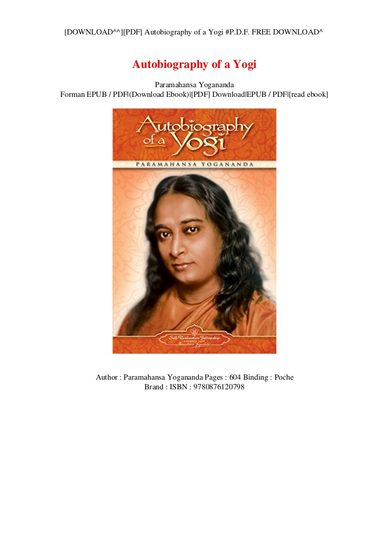 Autobiography Of A Yogi Pdf In English
