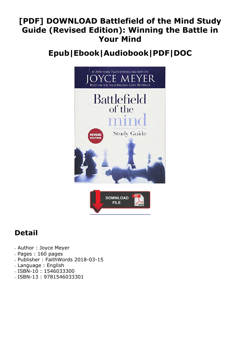 Battlefield Of The Mind Pdf