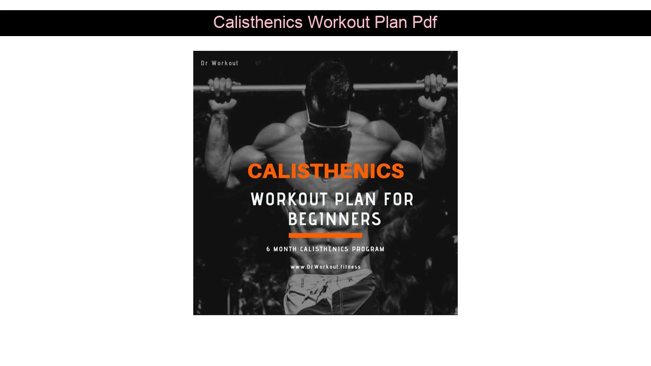 Calisthenics Workout Pdf