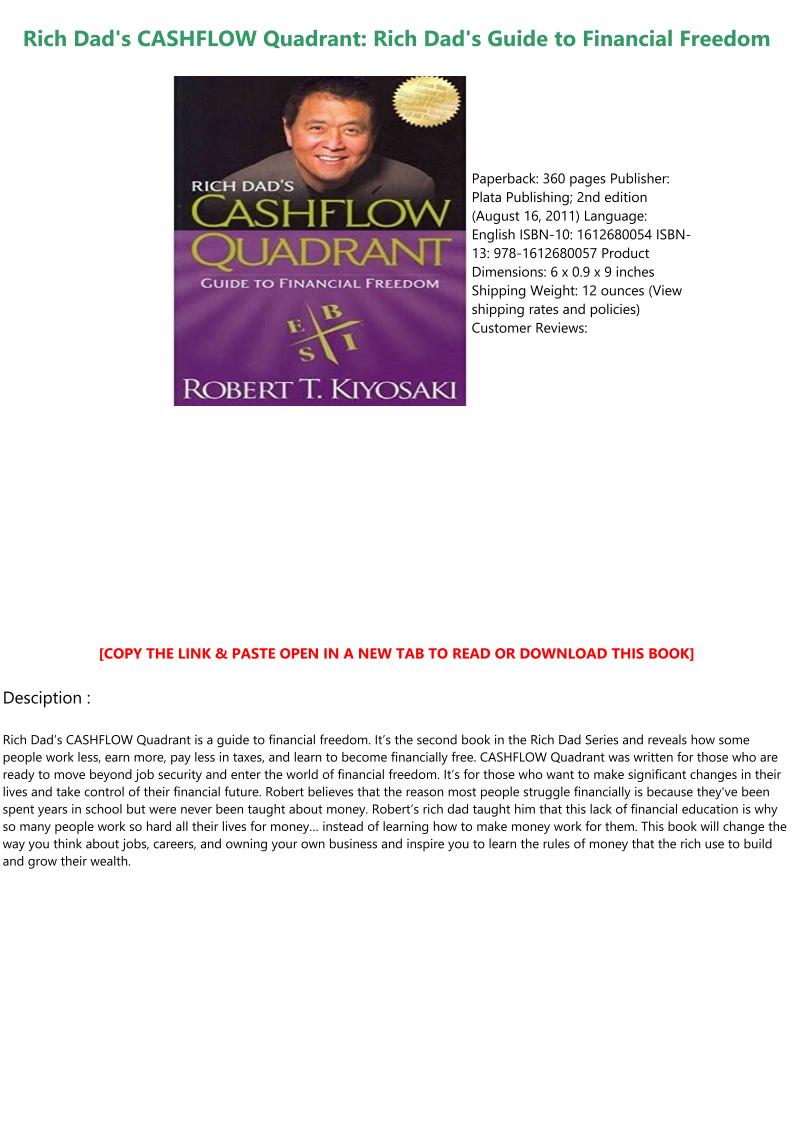 Cashflow Quadrant Book Pdf